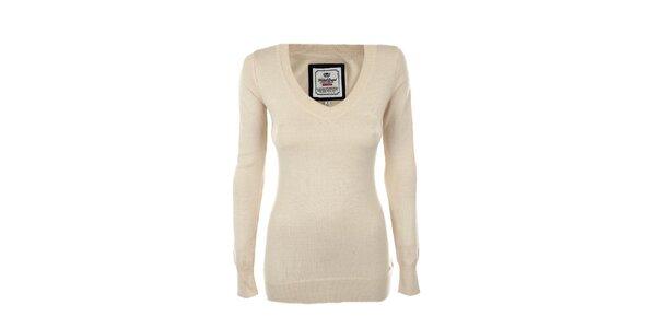 Dámsky béžový véčkový sveter Timeout