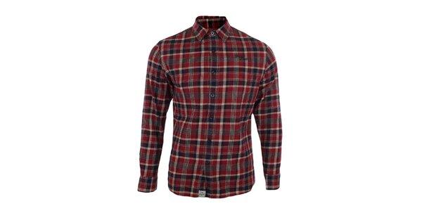 Pánska červená károvaná košeľa Timeout