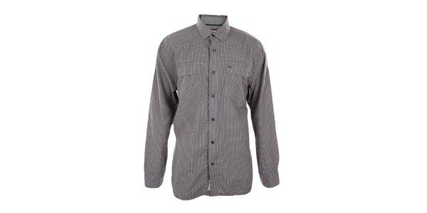 Pánska šedo kockovaná košeľa Timeout