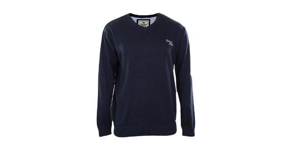 Pánsky tmavo modrý véčkový sveter Timeout