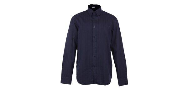 Pánska tmavo modrá košeľa s reliéfnym prúžkom GAs