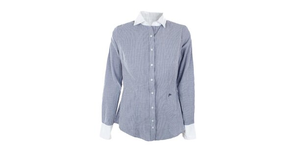 Dámska pruhovaná košeľa s bielym límčekom GAS