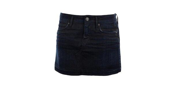 Dámska tmavo modrá džínsová sukňa GAS