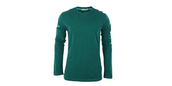 Pánske zelené tričko s dlhým rukávom GAS