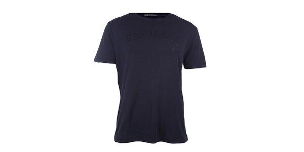 Pánske tmavo modré tričko GAS