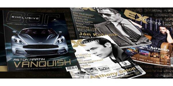 Ročné predplatné magazínu EXCLUSIVE