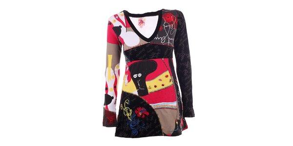 Dámske farebné šaty s gombíkmi DY Dislay Design