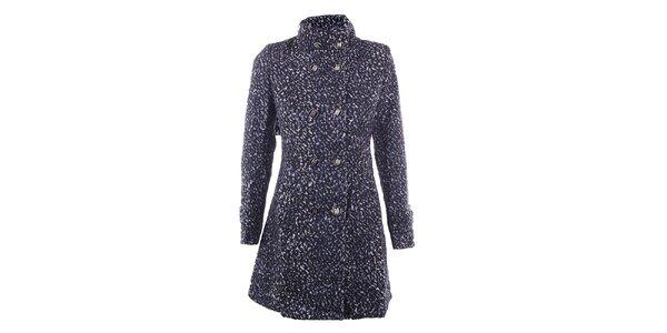 Dámsky modrý kabát DY Dislay Design so vzorom