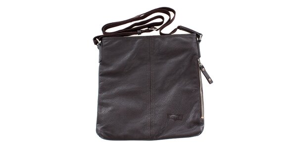 Dámska hnedá taška cez rameno Levis s látkovým popruhom