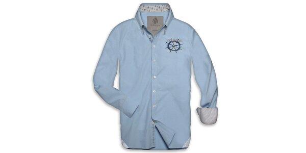 Pánska svetlo modrá námornícka košeľa Paul Stragas