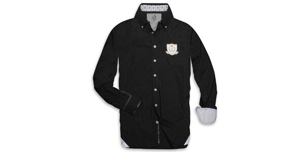Pánska čierna košeľa s nášivkou Paul Stargas