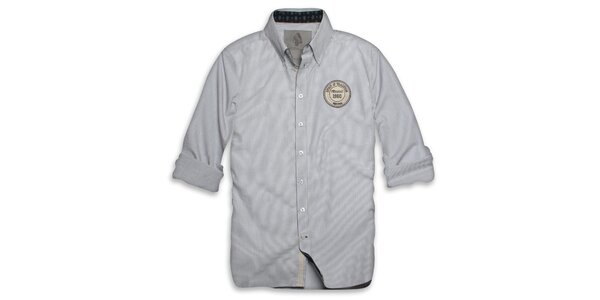 Pánska svetlo modro-biela košeľa s logom Paul Stragas