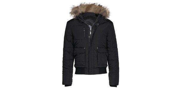 Pánska krátka čierna bunda Paul Stragas