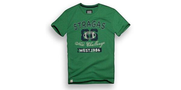 Pánske zelené tričko s potlačou Paul Stragas