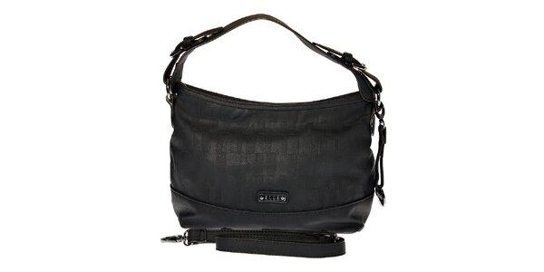 Dámska malá čierna hobo kabelka Elle