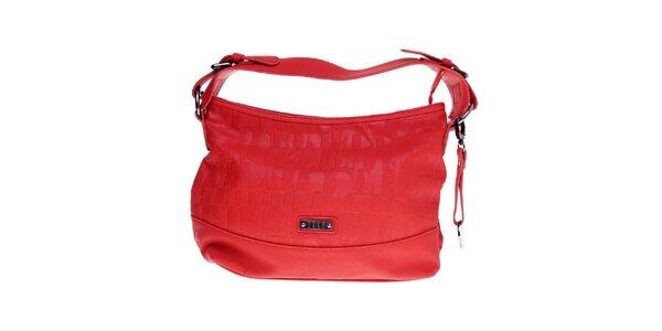 Dámska malá červená hobo kabelka Elle