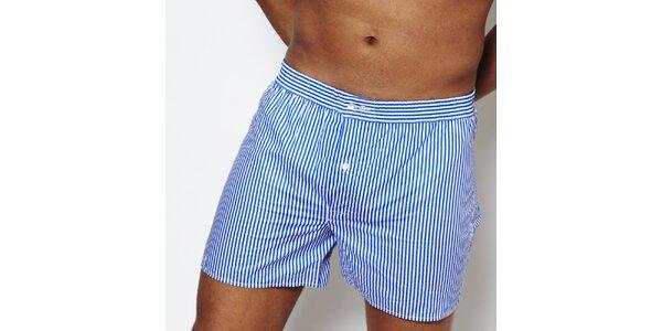 Pánske modro-biele pruhované trenky Color Code