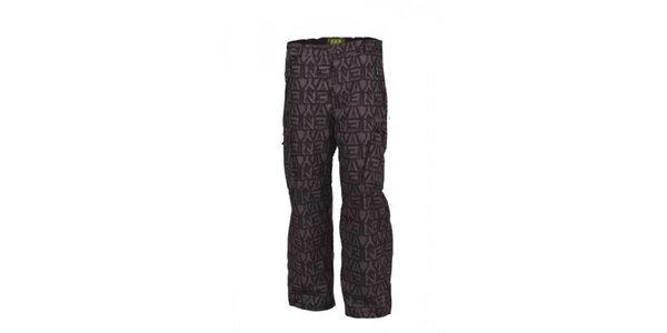 Pánske šedé snowboardové nohavice Envy s potlačou