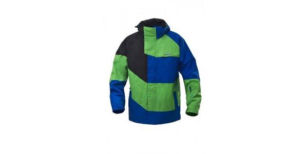 Pánska snowboardová zeleno-modrá bunda Envy