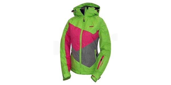Dámska zeleno-ružová technická bunda Envy