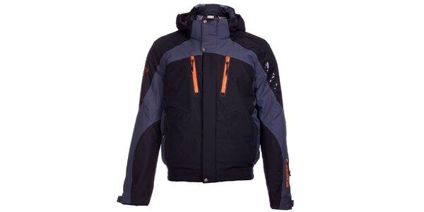 Pánska šedo-čierna zimná lyžiarska bunda West Scout s membránou