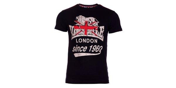 Pánske čierne tričko Lonsdale s potlačou