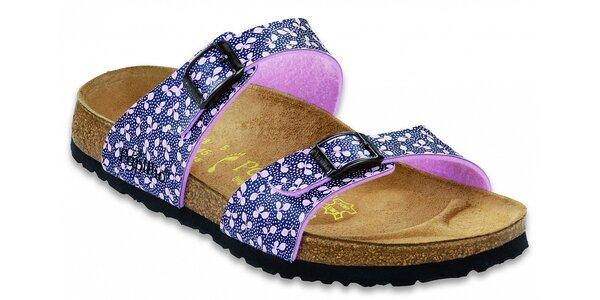 Dámske papuče so vzorom lístkov Papillio