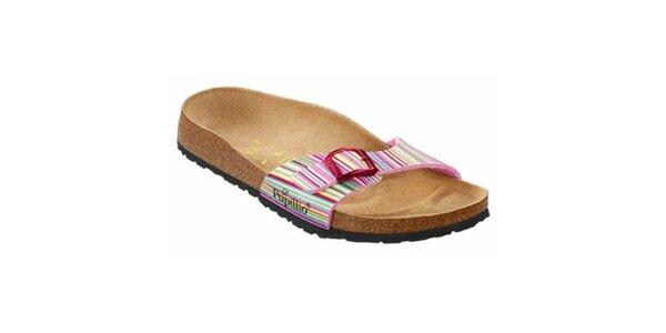 Dámske farebné pruhované papuče Papillio