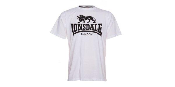 Pánske biele tričko Lonsdale s čiernym logom