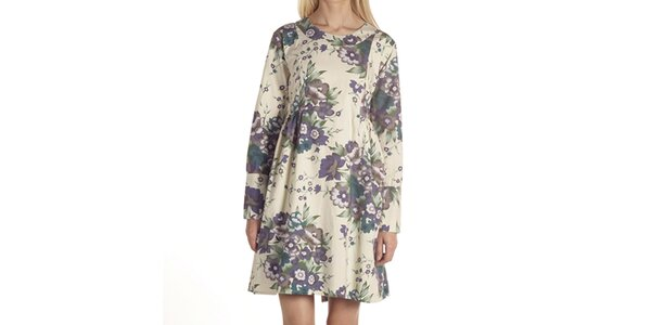 Dámske šaty s kvetinovým motívom Laga