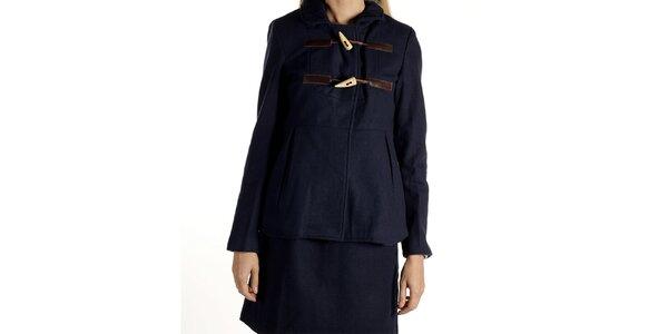 Dámsky tmavo modrý kabátik s olivkami Laga