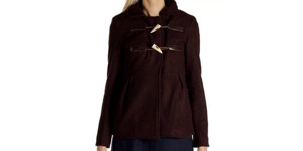 Dámsky hnedý kabátik s olivkami Laga