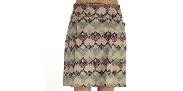 Dámska krátka modrohnedo vzorovaná sukňa Laga
