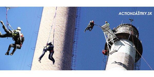 Tandemový zoskok zo 110 m komína