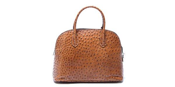 Dámska šafránová kabelka s bodkami Renata Corsi