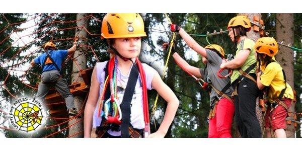 Lanový park Preles v lesoparku Chrasť