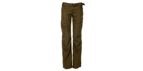 Dámske outdoorové khaki nohavice Trimm