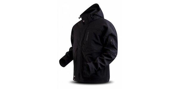 Pánska čierna softshellová bunda Trimm s potlačou