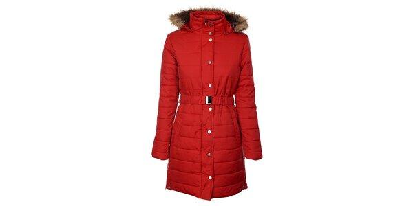 Dámsky červený zimný prešívaný kabát Trimm Loana
