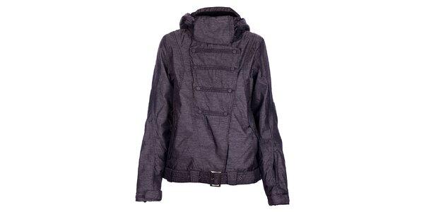 Dámska zimná tmavo šedá melírovaná bunda Fundango s membránou
