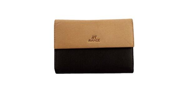 Dámska béžovo-hnedá peňaženka Menbur