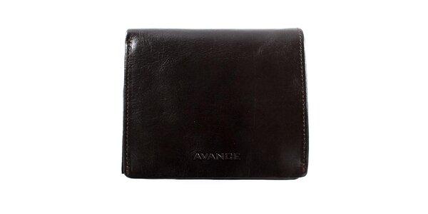 Tmavo hnedá štvorcová peňaženka Menbur