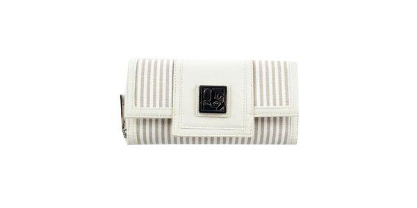 Dámska pruhovaná krémová peňaženka Menbur