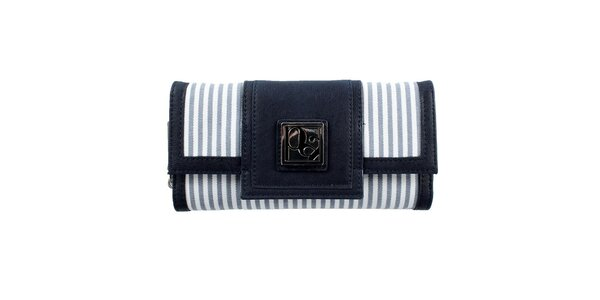 Dámska pruhovaná modrá peňaženka Menbur