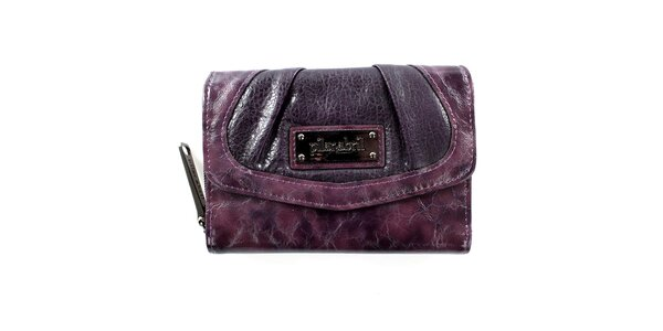 Dámska čiernofialová peňaženka Menbur