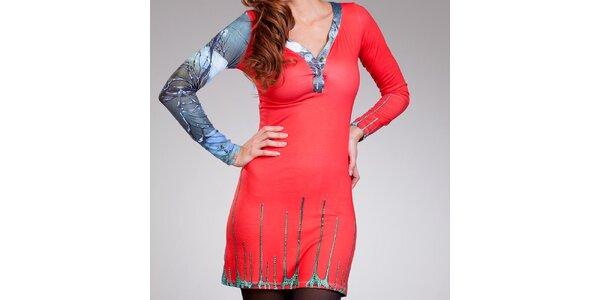 Dámske korálovo červené šaty Culito from Spain