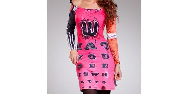 Dámske farebné šaty so šnurovacími ramienkami Culito from Spain
