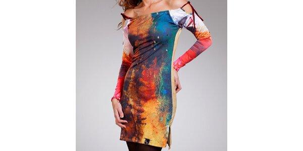 Dámske batikované šaty so spadnutými ramenami Culito from Spain
