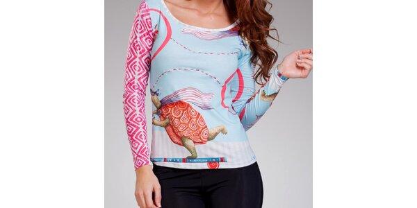 Dámske tričko s potlačou korytnačiek Culito from Spain