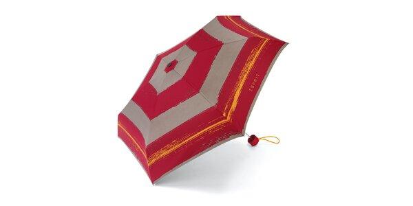 Farebný skladací dáždnik Esprit